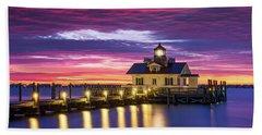 North Carolina Outer Banks Lighthouse Manteo Obx Nc Beach Towel