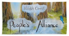 North Coast People's Alliance Beach Towel