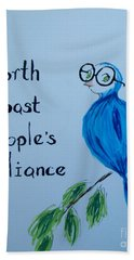 North Coast People's Alliance With Bernie Beach Towel