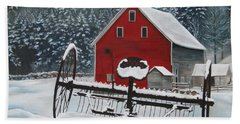 North Country Winter Beach Towel