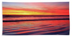 Oceanside Sand Ripples Beach Towel