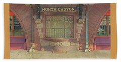 North Easton Train Station At Solstice Beach Towel