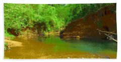 North Fork River Bend Beach Towel