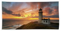 North Head Dreaming Beach Towel by Ryan Manuel