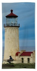 North Head Lighthouse Beach Towel by E Faithe Lester