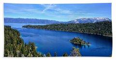 North Lake Tahoe Beach Towel by Serena King