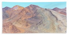 Beach Towel featuring the photograph North Of Avawatz Mountain by Jim Thompson