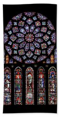 North Rose Window Of Chartres Cathedral Beach Towel