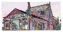 North Shore Kayak Shop, Rockport Massachusetts Beach Towel