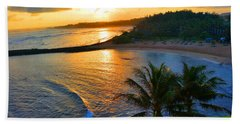 North Shore Of Oahu  Beach Sheet by Michael Rucker