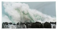 Beach Towel featuring the photograph North Shore Swell by Leigh Anne Meeks