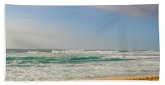 North Shore Waves In The Late Afternoon Sun Beach Sheet