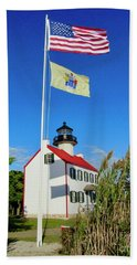 North Wind At East Point Light Beach Towel