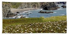 Northern California Coast Scene Beach Towel by Mick Anderson