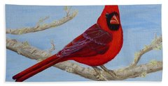 Northern Cardinal 2 Beach Towel