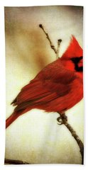 Northern Cardinal Beach Towel