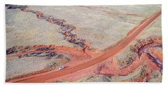 northern Colorado foothills aerial view Beach Towel
