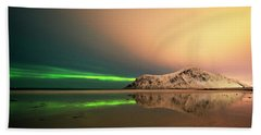 Northern Light In Lofoten Nordland 5 Beach Towel
