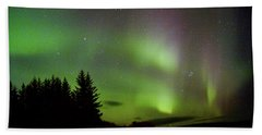 Northern Lights Curtains Beach Towel