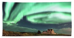 Beach Towel featuring the photograph Northern Lights by Frodi Brinks