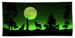 Northern Lights Beach Towel by Shane Bechler