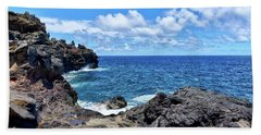Northern Maui Rocky Coastline Beach Towel