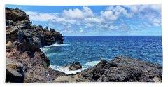 Northern Maui Rocky Coastline Beach Sheet