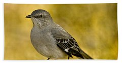 Northern Mockingbird Beach Towel by Chris Lord