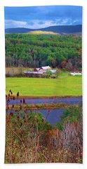 Northern Vermont Vista Beach Towel