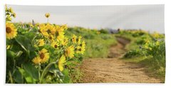 Northwest Balsamroot On Mosier Plateau Beach Towel