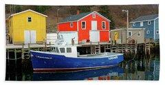 Northwest Harbour, Nova Scotia, Canada In Winter Beach Sheet