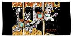 Norumbega Cats Beach Sheet