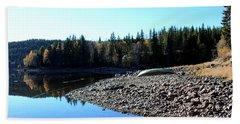 Norwegian Autumn Landscape  Beach Towel