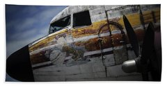 Beach Towel featuring the photograph Nose Art by Michael Nowotny