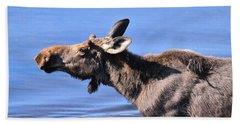 Nose First - Moose Beach Towel