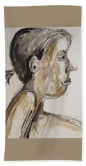 Beach Towel featuring the painting Nose Job Nose by Esther Newman-Cohen