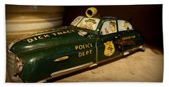 Nostalgia - Wind Up Car Toy Beach Sheet by Lori Seaman