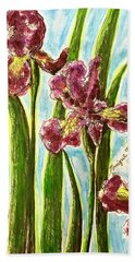 Nostalgic Irises Beach Sheet