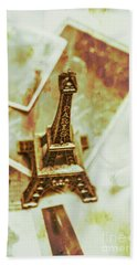 Nostalgic Mementos Of A Paris Trip Beach Towel