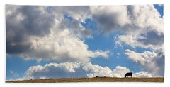 Not A Cow In The Sky Beach Towel