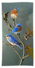 Nothing But Bluebirds Beach Sheet