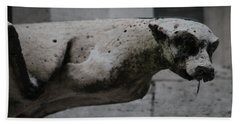 Beach Sheet featuring the photograph Notre Dame Bat Gargoyle by Christopher Kirby