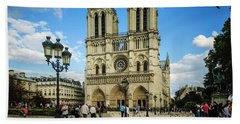 Notre Dame Cathedral Beach Towel