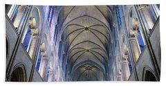 Notre Dame De Paris - A View From The Floor Beach Towel