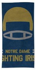 Notre Dame Fighting Irish Vintage Football Art Beach Towel