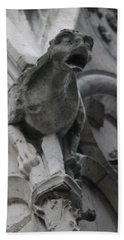 Notre Dame Gargoyle Grotesque Beach Towel by Christopher Kirby