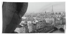 Beach Towel featuring the photograph Notre Dame Gargoyle by Victoria Lakes