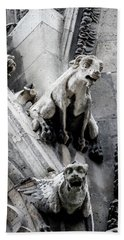 Beach Towel featuring the photograph Notre Dame Gargoyles by Jean Haynes