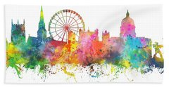 Nottingham  England Skyline Beach Towel
