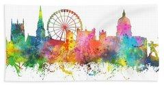 Nottingham  England Skyline Beach Sheet by Marlene Watson